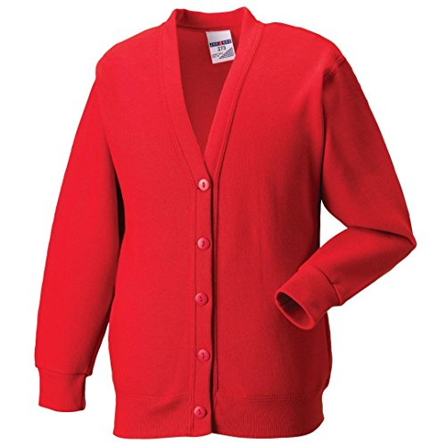 Russell Athletic para mujer Russell forro polar chaqueta Bright Red