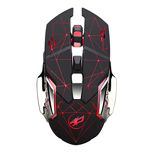 Sacherron Tech Mice Fashion Quality Warwolf Q8 Charging Wireless Gaming Mouse with 6 Buttons USB Receiver Backlight Gaming Mice Office Mouse