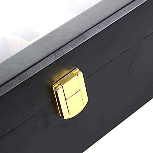 Watch-HLH Scatola per Gioielli in Legno e Orologi Scatola di Design per 12 Slot Custodia per Orologi con Fibbia in Metallo