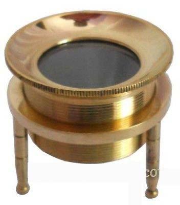 Nautical Chart Magnifier ~ Tripod Magnifying Glass In Brass