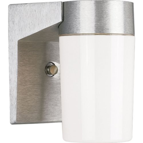 Progress Lighting P5695-16 Impact Resistant Fixture For Wall Mount Only with Polycarbonate Diffuser, Satin Aluminum