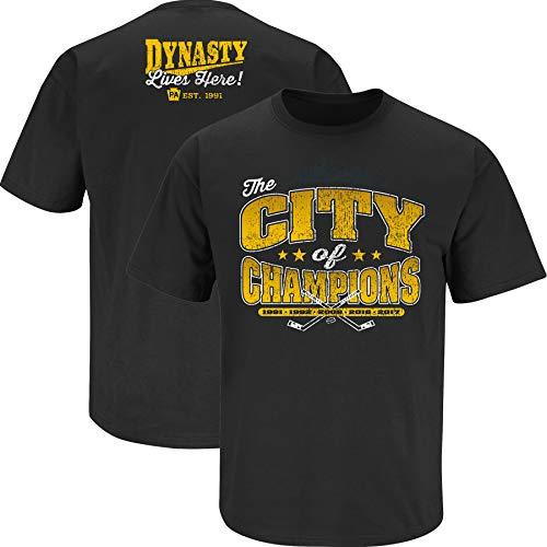 Flag Pittsburgh City (Nalie Sports Pittsburgh Hockey Fans. City of Champions. Black T Shirt (Sm-5X) Medium)