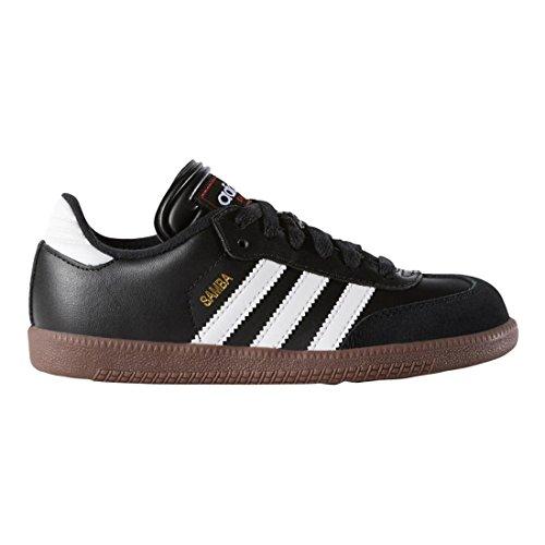 Adidas Samba Klassieke Lederen Voetbalschoen (peuter / Klein Kind / Groot Kind) Zwart / Wit