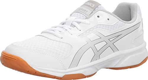 ASICS Women's Gel-Upcourt 2 Volleyball Shoe - White/Silver - 12