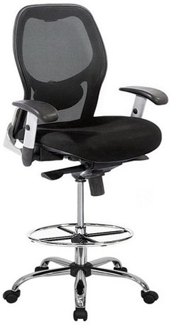 amazon com harwick deluxe mesh drafting chair office products