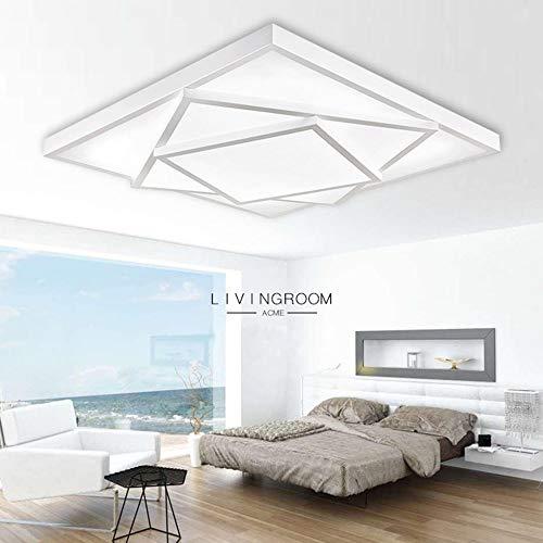 YAYONG Ceiling Lamp Modern Bedroom Lamp Simple Fashion Living Room Lamp Rectangular Home Hotel Interior Pendant Lighting,White,63x63cm