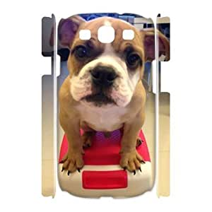 Bulldog Dog High Qulity Customized 3D Cell Phone Case for Samsung Galaxy S3 I9300, Bulldog Dog Galaxy S3 I9300 3D Cover Case