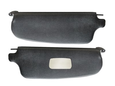 Vinyl Visors Sun (VW Sunvisors, Pair, Black Vinyl with Mirror, Karmann Ghia 1965-1974)