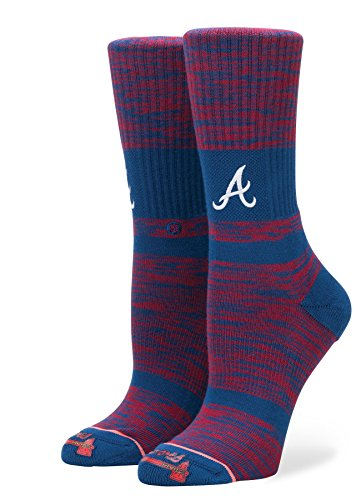 Atlanta Braves Franchise - Stance W556A18BRA Women's Braves Classic Crew Sock, Red - Medium