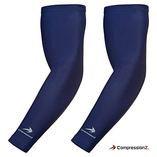 CompressionZ Youth Arm Sleeve (Pair) - Compression Elbow Brace Support for Girls/Boys/Kids - Sports Sleeves for Basketball, Baseball, Softball, Volleyball - Support Growing Muscles & Recovery