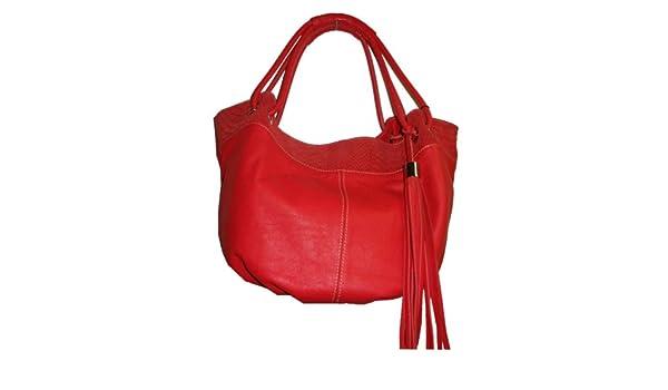 8ee50226bec9 Innue Women's Genuine Leather Italian Made Handbag, Coral: Handbags ...