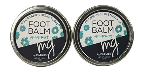 MG Signature 2-Pack Natural & Organic Peppermint Foot Balm Set made in New England