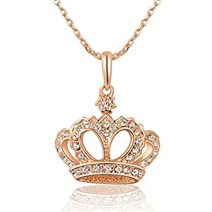 Amazon.com: Queen Crystals Necklace with Imperial Crown ...