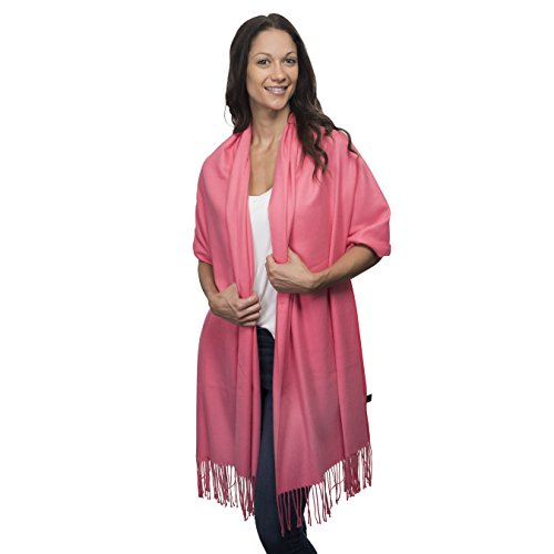 Cashmere & Class Large Soft Cashmere Scarf Wrap - Womens Winter Shawl + Gift Box (light - Wrap Wool Thin Scarf