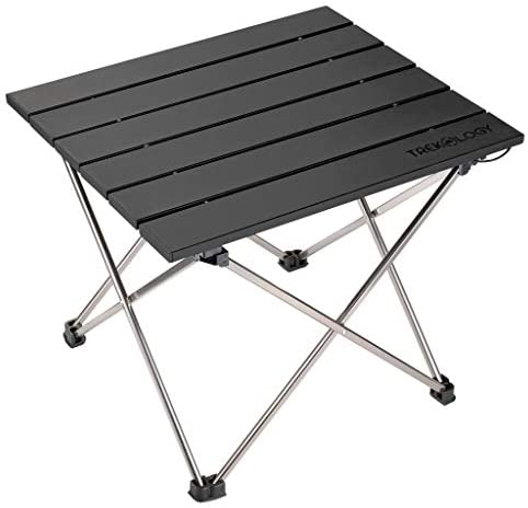 BotaBay Portable Camping Kitchen Table Multifunctional Camping Kitchen Table Windscreen Camping Table Easy-to-Clean Cooking Table Camping Light