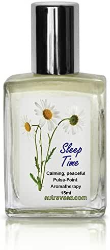 Sleep Time-Aromatherapy Rollerball -for Deep Peaceful Calming -Signals Its Time to Sleep -Aide for Kids & Adults Ready to Roll-on Chamomile Lavender Drops-Best Natural Safe Nutravana-100% Guarantee