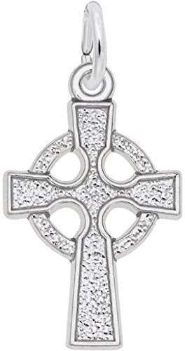 Rembrandt Celtic Cross Charm - Metal - Sterling Silver