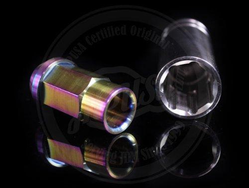 Blox Torched Forged Titanium 7-Sided Lug Nut Set 20 Piece 12x1.5
