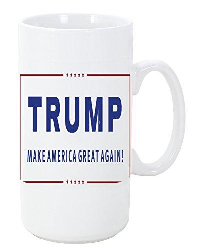 Donald Trump for President Big 20 ounce Ceramic Coffee Mug Tea Cup by LE Prints