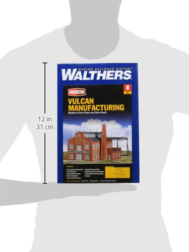 Kit Inc Walthers 11//16 14 x 14.2cm Vulcan Manufacturing Co