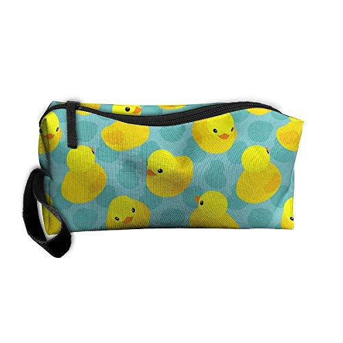 Portable Multifunction Travel Storage Pouch Yellow Rubber Duck Painting Wallets Bag Kit Medicine Bag ()