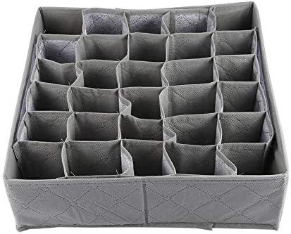 Pennyjie 30 Grid Slot Bambuskohle Unterw/äsche Krawatten Socken Schublade Closet Organizer Aufbewahrungsbox Fit F/ür Sammlung
