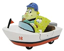 SpongeBob Penn Plax and Mrs. Puff Resin Aquarium Ornament