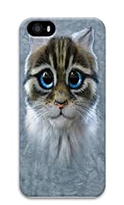 Children's Catten Polycarbonate Hard Case Cover for iPhone 5/5S 3D