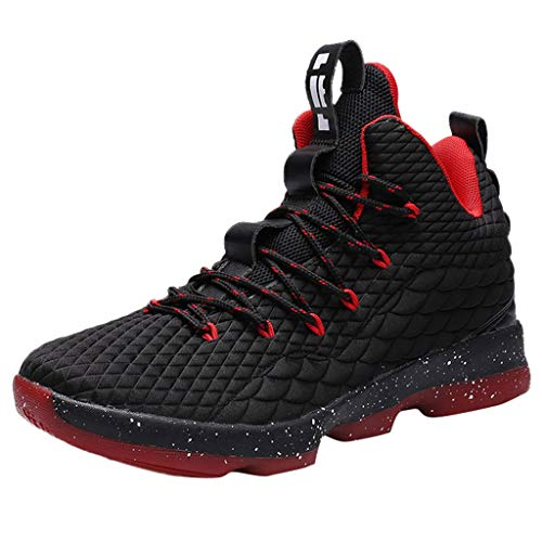 Corriee Men's Basketball Shoes Fashion Sneakers Athletic Outdoor Sport Shoes Black