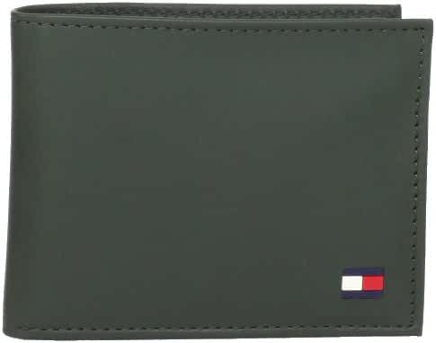 Tommy Hilfiger Men's Leather Dore Passcase Billfold Wallet with Removable Card Holder