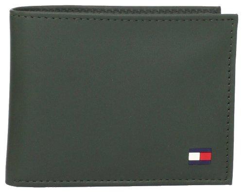 Tommy Hilfiger Men's Dore Passcase Billfold,Green,One - Green Tommy Hilfiger