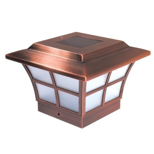 (Copper Plated Prestige Solar Post Cap - Size 4x4
