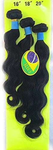 RIO VIRGIN HUMAN HAIR - 9A BRAZILIAN HAIR - UNPROCESSED BRAZILIAN - Tangle-Free, Shed-Free, Worry-Free (16