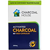 Activated Charcoal Capsules Vegetarian In Blister Packs