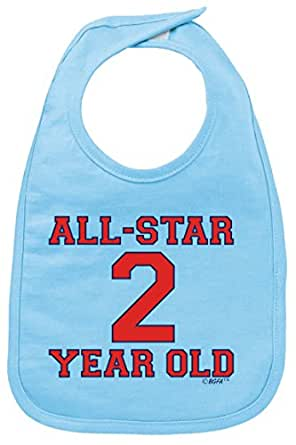 Baby Boy Birthday 2nd Birthday Gift All Star 2 Year Old Baby Bib Light Blue