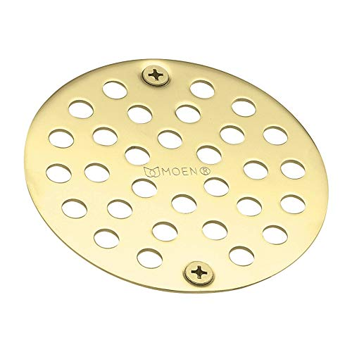 Moen 102763P Kingsley 4-Inch Screw-In Shower Straine, Polished Brass ()
