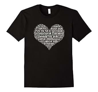 Men's Occupational Therapist Appreciation Shirt 3XL Black