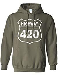 Highway 420 Adult Hooded Sweatshirt