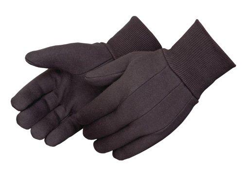 Liberty 4503Q Standard Weight Jersey Men's Glove, Brown (Pack of 12)