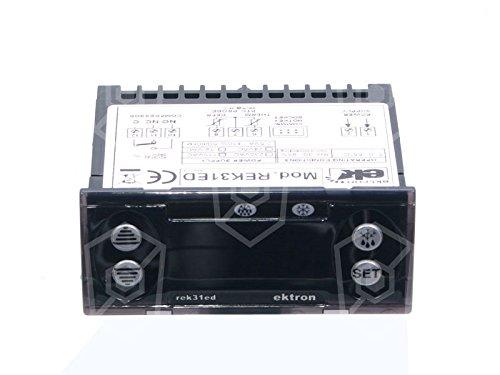 régulateur électronique ektron type rek31ed Appareil de 0021pour réfrigérateur 230V AC de 45à + 95°C 71x 29mm avec affichage Sonde PTC 3chiffres