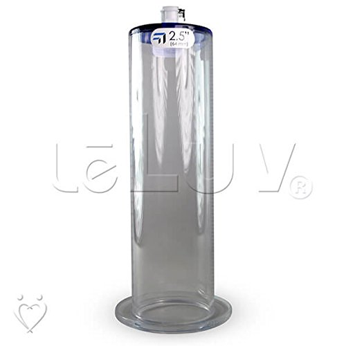 LeLuv Penis Pump Cylinder EYRO Large 1/2'' inch Wide Flange and Female Quick-Disconnect Fitting 2.5 inch Diameter x 9 inch Length by LeLuv