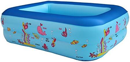 Cyhione Bañera inflable Niños piscina hinchable de 1,1 metros cuadrados de dos pisos niños verano bebé cómodo baño inflables, casa baño piscina plegable: Amazon.es: Hogar