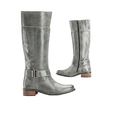 8e71af7a8f37ed Schuh Star Damenstiefel grau - echt Leder! 40  Amazon.de  Schuhe ...