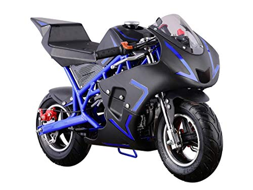 Flying Horse 40cc 4-Stroke Pull Start Mini SUPERBIKE Motorized Gas Powered Mini Super Pocket Bike- Blue