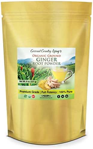 Organic Ginger Root Powder 1 lb, Aromatic, Freshly Harvested Raw Spice for Health, Baking, Beauty, Cooking