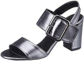 ELLE Kadın Keyes Açık Burun Topuklu Ayakkabı, Platin, 39 Numara