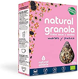 Granola Natural Athlete, Frutos Secos y Semillas Sin Azúcar ...