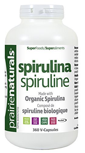 Prairie Naturals Organic Spirulina V Caps, 360 Count by Prairie Naturals