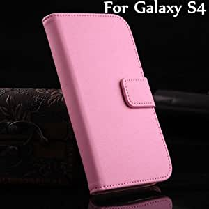 Free Shipping Luxury Book Style PU Leather Stand Case Cover Credit Card Holder For SAMSUNG Galaxy S4 S 4 i9500 YXF01248 --- Color:Brown