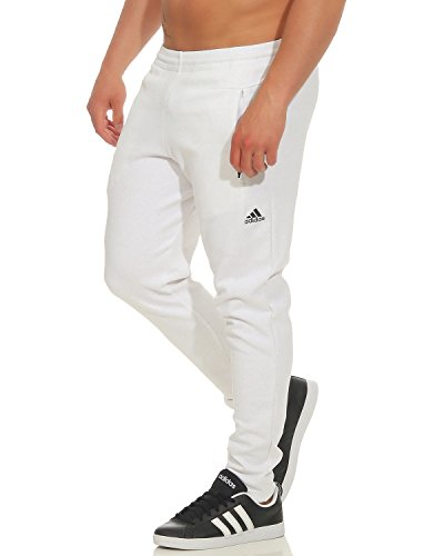 adidas Mens Jog Pant Stadium Sweat Pant Training Joggers White Cuffed New BQ0709 (X- ()
